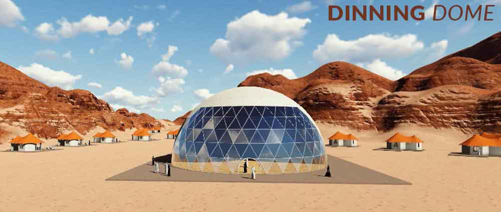 shelter dome concept project banner - dinning dome
