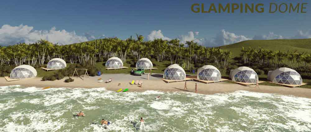 shelter dome concept project banner - glamping dome