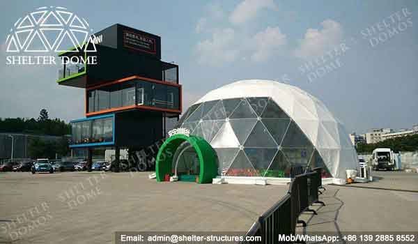 Geodesic Dome Construction For Bmw Brand Shelter Dome
