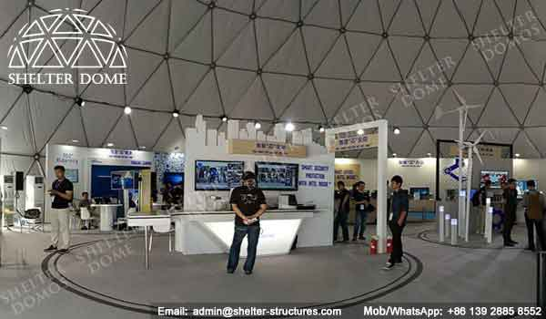 Geodome - Geodesic Dome - Geodesic Dome Tent for Sale - Large Dome - Event Dome - Half Clear Dome - Dome Construction - 15-20m Dome - Shelter Dome (3)