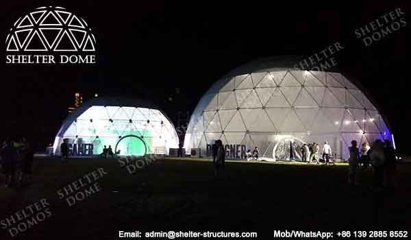 Geodome - Geodesic Dome - Geodesic Dome Tent for Sale - Large Dome - Event Dome - Half Clear Dome - Dome Construction - 15-20m Dome - Shelter Dome (8)