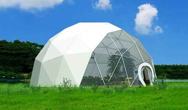 Fabric Shelter 8 10 : Shelter geodome tent event domes half dome structures