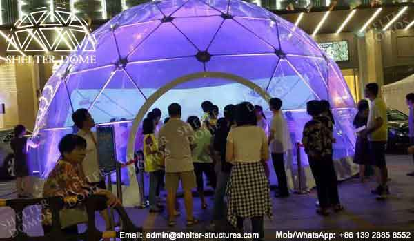 Dome Shelter - Geodesic Dome - Geodesic Dome Tent for Sale - Dome Event Tent - Dome for Light Festival - Transparent Dome Tent - Clear Dome Tent - 10m Dome - Shelter Dome (6)
