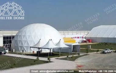White Dome Tent - Geodesic Dome Tent - Geodesic Structure - Geodesic Dome Construction - Geodesic Dome Tent for Sale - White Dome Tent - Large Dome Tent - Event Dome - Dome Cinema - 25m Dome - Shelter Dome (3)
