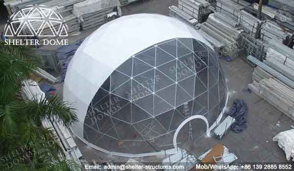 Portable Dome Shelters : Geodesic dome structure for multiple uses shelter