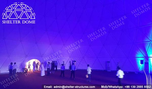 Portable Geodesic Dome - Geodesic Dome Tent - Geodesic Structure - Geodesic Dome Construction - Geodesic Dome Tent for Sale - White Dome Tent - Large Dome Tent - Event Dome - Dome Cinema - 25m Dome - Shelter Dome (2)