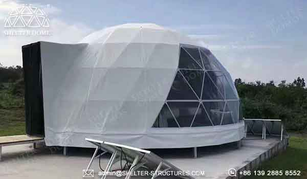 Shelter eco living dome for sale with PVC membrane - dwelling dome for sale
