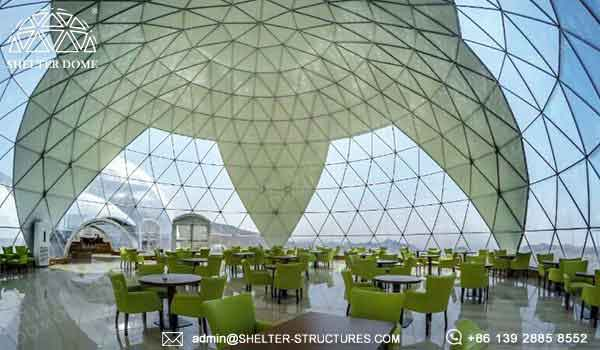 large catering dome in luxury desert resort - 100 200 300 400 500 800 1000 people banquet dome for sale with customized window design