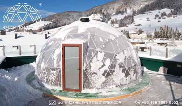 geodesic greenhouse dome in Italy- Growing greenhouse Geodome tent kits for sale- (2)