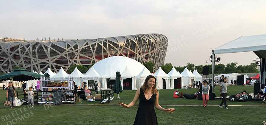 Geodesic Structure of Steel - Dome Shape Structure - Event Dome Tents for Sale - Exhibition Dome - Geodesic Event Tents - Shelter Dome