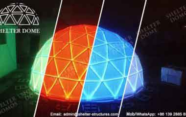 Geodesic Dome Illuminated - Geodesic LED Dome - Event Dome for Sale - Shelter Dome_Jc