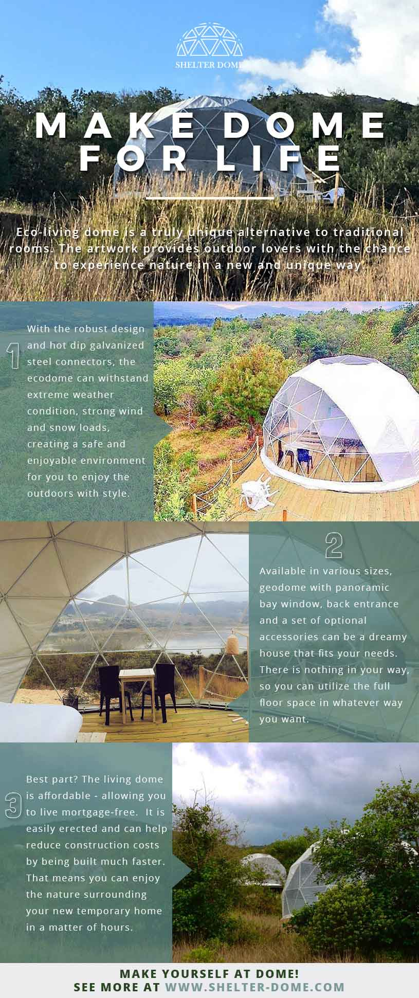Eco dome homes make dome for life eco living dome by shelter dome