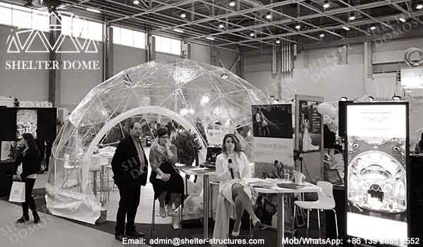 Exhibition Stand Sales Jobs : Geodesic dome shaped exhibition stand sales shelter