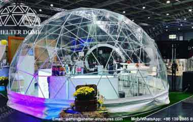 Portable Dome Shaped Exhibition Stand Sales - 6m Transparent Dome for Wedding Exhibition - Exhibition Dome - Pop Up Dome Structure for Sale - Shelter Dome (2)