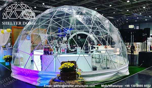 Exhibition Stand Glass : Geodesic dome shaped exhibition stand sales shelter