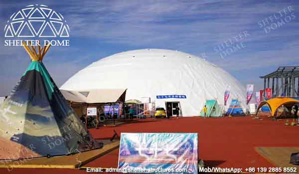 50m Event Dome Tent - Large Geodesic Dome Structure Sep Up In Desert - Portable Dome Structure for Event - Shelter Dome (2)