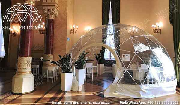 6m Transparent Dome for Wedding Exhibition - Exhibition Dome - Pop Up Dome Structure for Sale - Shelter Dome