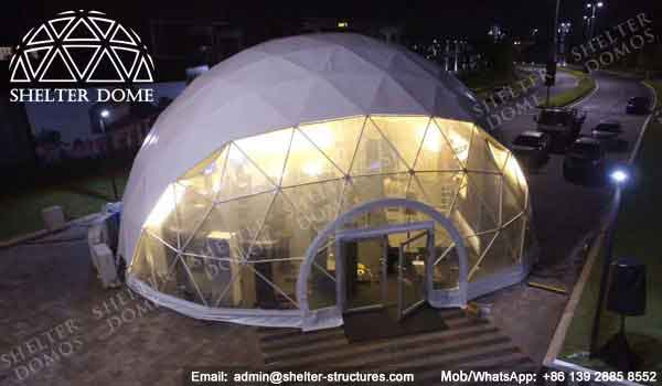 Geodesic Dome - Geodesic Dome Tent - Geodesic Structure - Geodesic Dome Construction - Fabric Dome - PVC Dome - Catering Dome - 15m Dome - Shelter Dome (5)