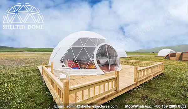 Glamping Dome - Geodesic Glamping Tent - Dome Tent of 6m for Glamping - Shelter Dome (3)