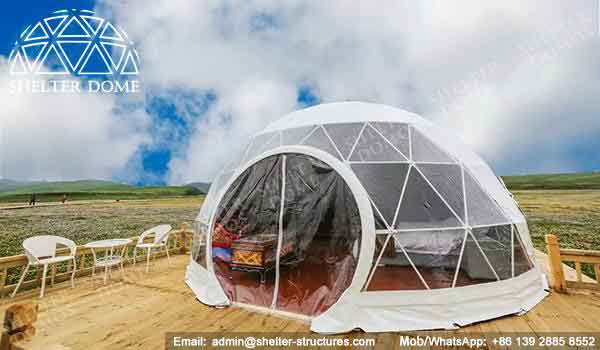 Glamping Dome - Geodesic Glamping Tent - Dome Tent of 6m for Glamping - Shelter Dome (6)