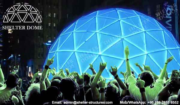 LED-filled Geodesic Dome - Geodesic Dome Sale for Christmas and New Year Event - Holiday Dome - Shelter Dome
