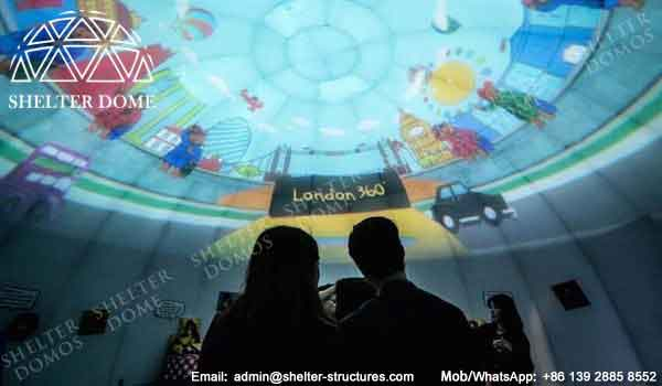 Dome Projection Screen - Immersive Entertainment Dome - 10m Diameter Geodesic Dome with Printing - Custom Dome Tent for Sale - Event Geodeisc Dome with Custom Graphics - Shelter Dome (26)