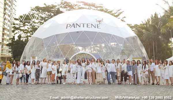 18m 6v geodesic dome for branding, promotion, reception, exhibition - custom dome tent for sale -17
