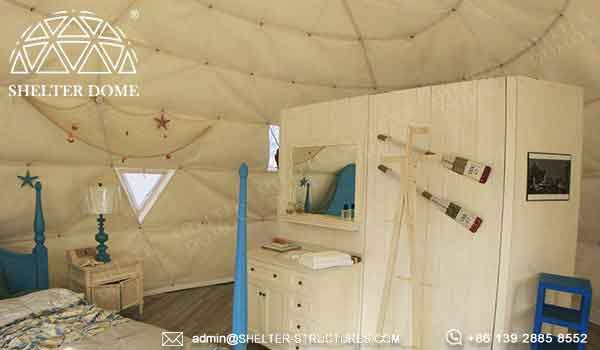 Shelter oval house for glamping living in beach side resort - elliptical dome with waterproof PVC fabric -7