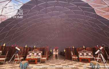 dia. 25m banquet dome tent on desert area -6