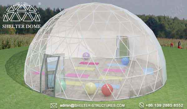 5m 10m 15m yoga dome with bay window - geodesic gym tent for sports center, backyard, ecocamp, hotel (1)