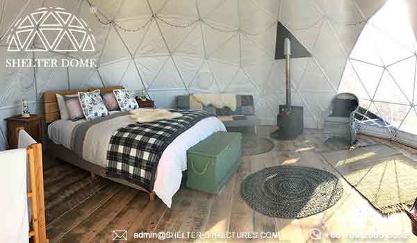 6m geodesic dome, dome cabin for glamping resort - living dome rental airbnb booking in australia (3)