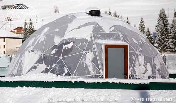 7m transparent igloo marquee for sale - geodesic greenhouse dome serves as hot spring lounge room, reception hall (6)