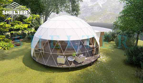 Geodesic Dome House With Kitchen Facilities-shelter dome-shelter domos