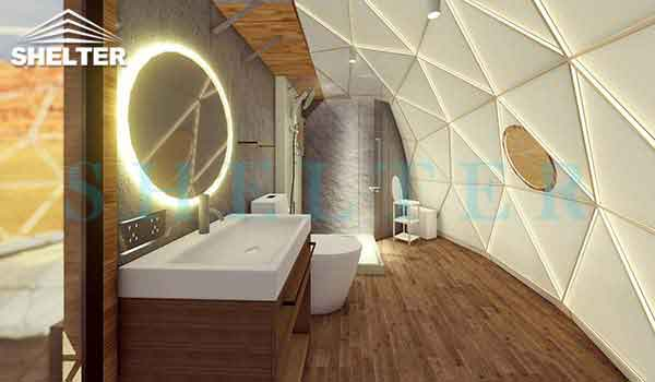 Geodesic Dome Tent-private bathroom-shelter dome-shelter domos