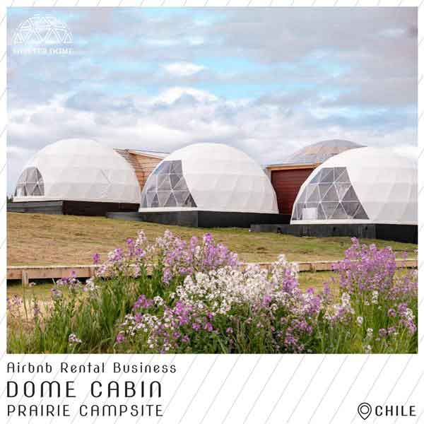 10 dome cabin for airbnb rental business - 6m dome house with full facilities in prairie resort
