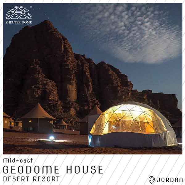 4 eco geodome house in jordan desert resort - igloo marquee in mid-east style decoration
