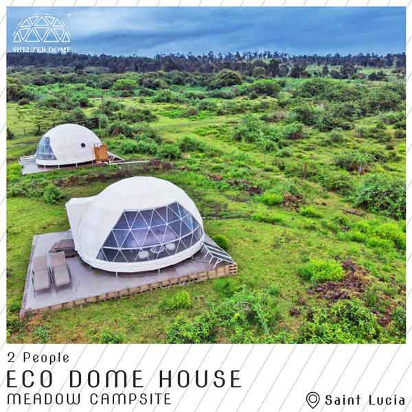 7 eco living dome in US campsite