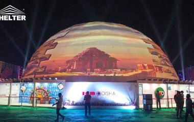 Dome Projection-Indian-30-meter-diameter Illumination Dome-night
