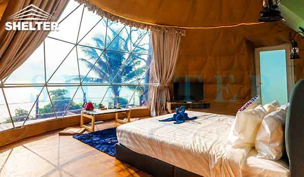 glamping dome-dwell dome-beach dome tent-shelter dome-shelter domos