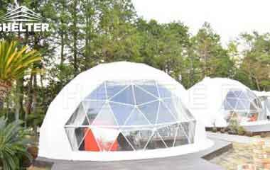 Hotel Domes With Full Facilities Geodesic Dome For Sale-glamping dome-Shelter Dome