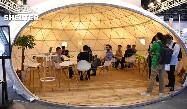waterdrop dome pod for exhibition-ecological dome living tent price-glamping pod dome tents-glitzcamp (2)