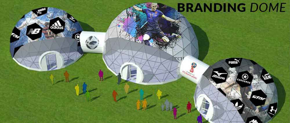 shelter dome concept project banner - branding dome
