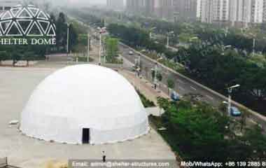 Big Dome Tent - Geodesic Dome - Geodesic Dome Tent for Sale - Frame Dome Tent - Fabric Dome - White Dome Tent - Event Dome Tent - Portable Dome - 10-15m Dome - Shelter Dome (2)
