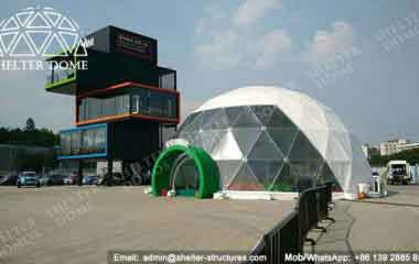 Geodesic Dome Construction - Geodesic Dome - Geodesic Dome Tent - Dome Tent for Sale - Event Dome Tent - Portable Dome Tent - White Dome Tent - Fabric Dome - Exhibition Dome - 10m Dome - Shelter Dome (7)