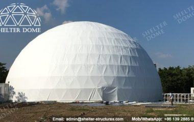 Fabric Dome Structure - Geodesic Dome - Geodesic Dome Tent - Geodesic Dome House - Event Dome - Projection Dome - Geodesic Dome Construction - Fabric Dome - Geodesic Domes for Sale - 30m Dome - Shelter Dome (3)