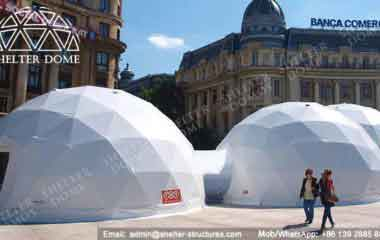 Large Geodesic Dome - Geodesic Dome - Geodesic Dome Tent for Sale - Combinated Dome - Dome Tent with Tunnel - Dome with Walkway - Event Dome - Fabric Dome - Customized Dome - Shelter Dome (3)