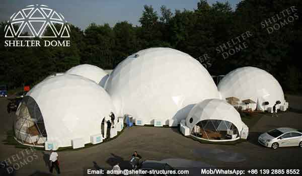 Large Geodesic Dome - Geodesic Dome - Geodesic Dome Tent for Sale - Combinated Dome - Dome Tent with Tunnel - Dome with Walkway - Event Dome - Fabric Dome - Customized Dome - Shelter Dome (5)