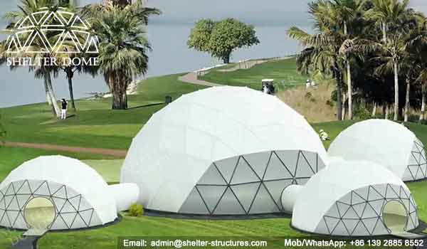 Large Geodesic Dome - Geodesic Dome - Geodesic Dome Tent for Sale - Combinated Dome - Dome Tent with Tunnel - Dome with Walkway - Event Dome - Fabric Dome - Customized Dome - Shelter Dome