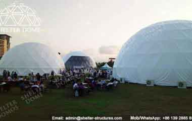 Fabric Dome Data - Geodesic Dome - Geodesic Dome Tent for Sale - Large Dome - Event Dome - Half Clear Dome - Dome Construction - 15-20m Dome - Shelter Dome (12)