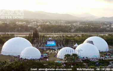 Large Dome Tent - Geodesic Dome - Geodesic Dome Tent for Sale - Large Dome - Event Dome - Half Clear Dome - Dome Construction - 15-20m Dome - Shelter Dome (13)